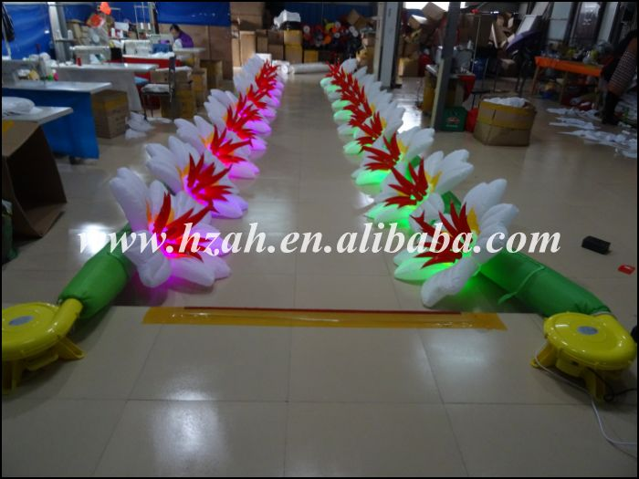 Hot Sale LED Light Inflatable Flower Road Wedding/Inflatable Artificial Flower