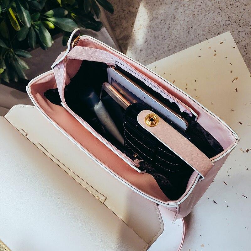 2017new Fashion Women Backpack High Quality Youth Leather Backpacks for Teenage Girls Female School Shoulder Bag Bagpack mochila 5