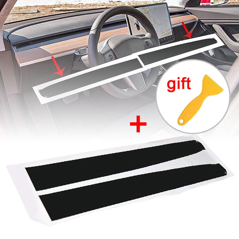 Image 5 - For Tesla Model 3 Inner Cover Sticker Carbon Fiber Kit Durable Kit Replacement-in Car Stickers from Automobiles & Motorcycles