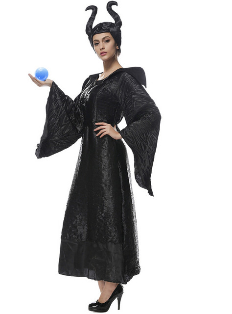 halloween party cosplay adult women sexy pu leather descendants maleficent costume black witch sleeping princess clothing dress