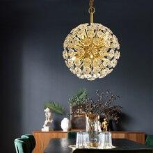 Luxury Modern Pendant Ceiling Lamps Crystal Golden Loft LED Lights Pending Lighting Parlor Bedroom Hanging Light Decor