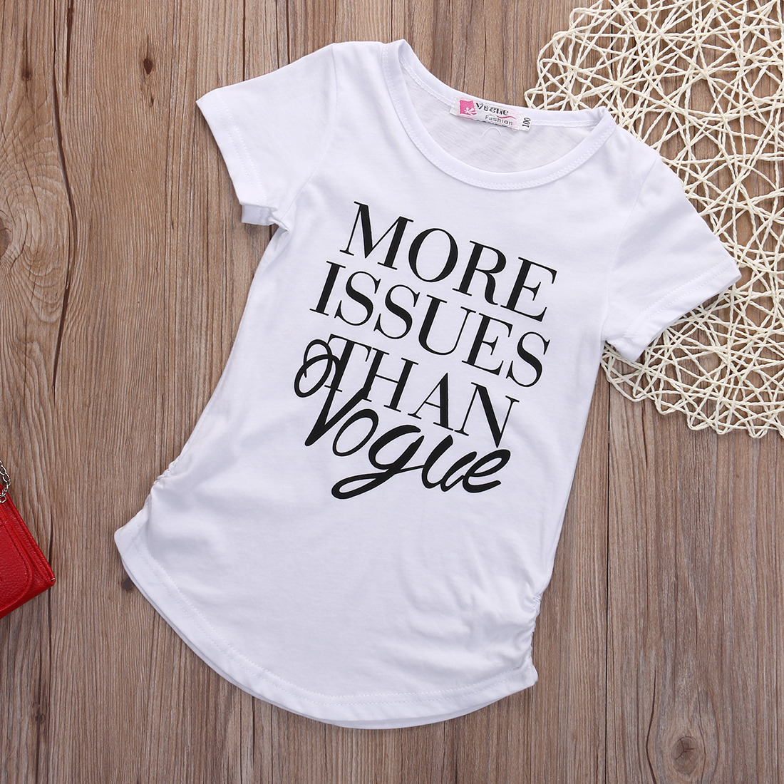 43eddd7b0 Details about 2016 New Kids Baby Girls Summer Fashion Cotton Short sleeve T- shirt Tops Clothes