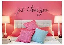 Naklejka na ścianę P.S I Love You
