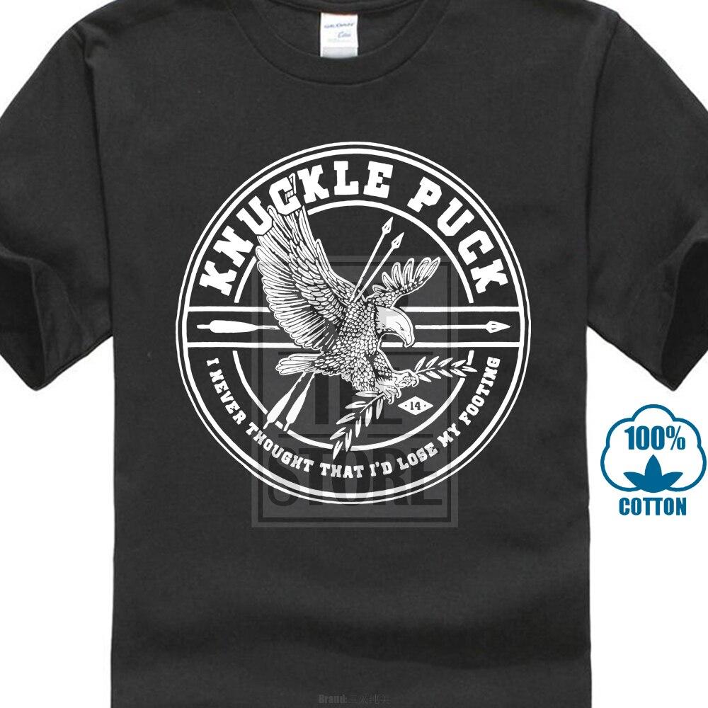 Knuckle Puck Men's Eagle Arrows T Shirt X Large Black Loose Black Anime Tshirts Homme Tees