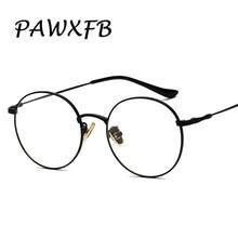 PAWXFB Classic Round Glasses Frame Women Men Eyeglasses Optical Vintage Eyewear Frames Male Female