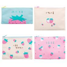 Document bag bill zipper cute student canvas tutorial Korea small fresh female stationery storage clip pen