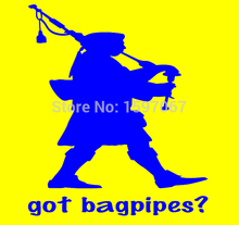 Got Bagpipes Kilt Scottish Pipes Graphic Sticker Car Window Truck SUV Door Laptop Kayak Vinyl Decal