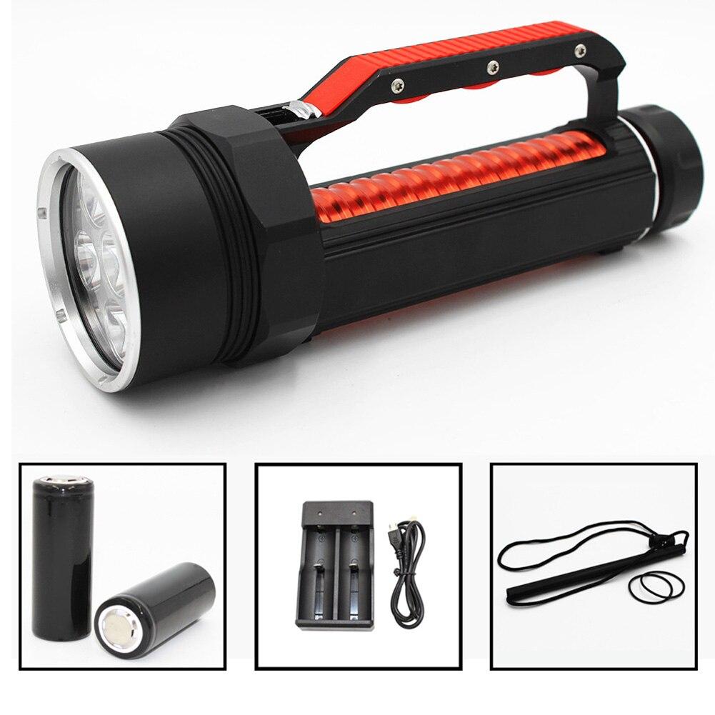 1 pièces LED lampe de poche de plongée torche Portable lampe étanche haute puissance sous-marine HYD88