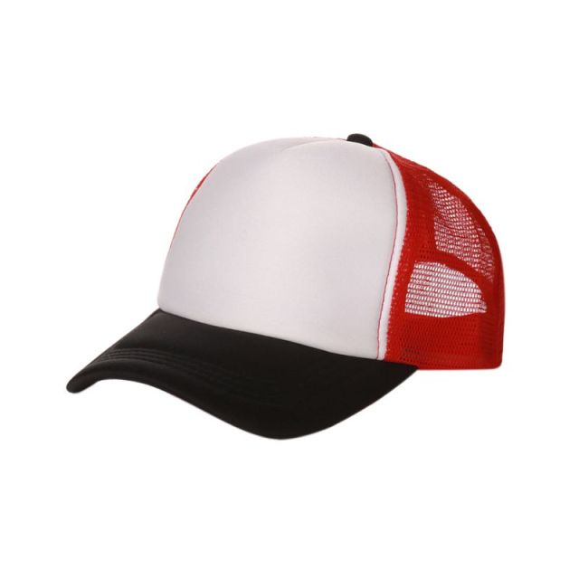 ac93e4025e2d0 New Style Fashion Good-looking New Plain Baseball Cap Solid Trucker Mesh  Blank Curved Adjustable