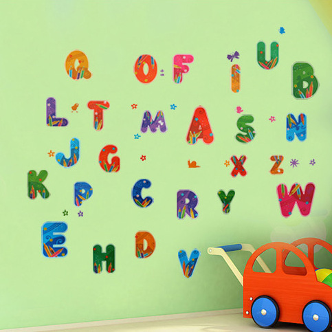 English Alphabet Decal Childrens Bedroom Classroom Decoration
