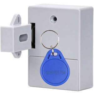 Invisible Hidden Cabinet Lock RFID IC Card Unlock Battery Powered Easy Install For Furniture Wardrobe Shoe Cabinet Drawer Locker