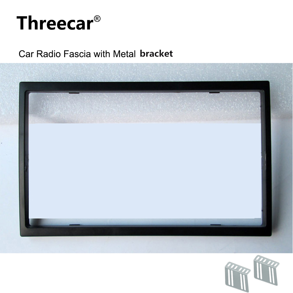 <font><b>2</b></font> <font><b>Din</b></font> Car <font><b>Radio</b></font> Fascia for Car <font><b>Radio</b></font> 7018B 7010B 7200C 7652D 7010G <font><b>7018G</b></font> Installation Trim Fascia Face Plate Panel DVD Frame image