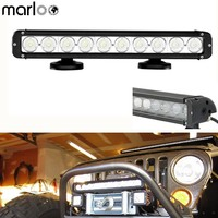 Marloo 4D 17 Inch 100W Led Work Light Bar Spot Flood Combo Beam Offroad 10X 10W Leds SUV ATV Truck Driving Auto Accessories
