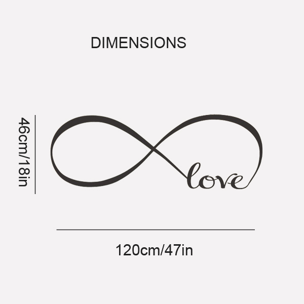 Infinity Love Quotes Cool Personalized Infinity Symbol Bedroom Wall Decal Love Bedroom Decor