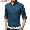 LONMMY M-5XL Striped shirt men camisa masculina autumn style imported clothing men shirt Cotton Long sleeve mens dress shirts