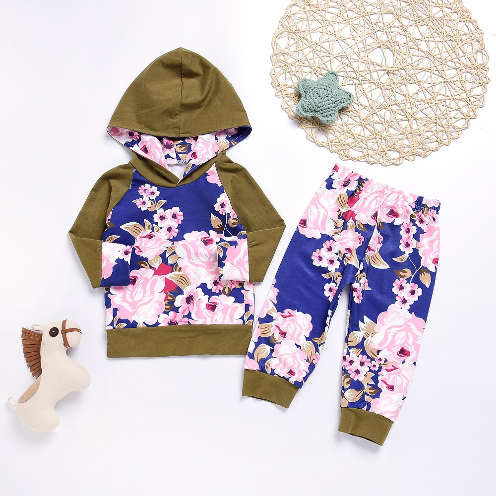 Toddler Baby Girls Boys Winter Outfits Clothes 0-4 Years Old KidLong Sleeve Coat Pants Tracksuit Set