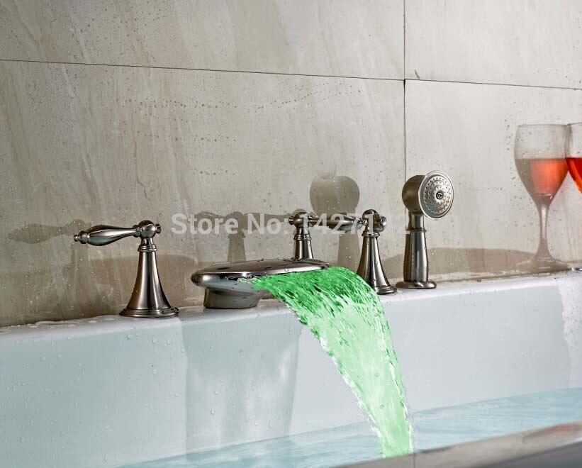 Brushed Nickel Led Bathroom Light By Kuzco Lighting: New Bathroom Deck Mounted Brushed Nickel Brass LED Light