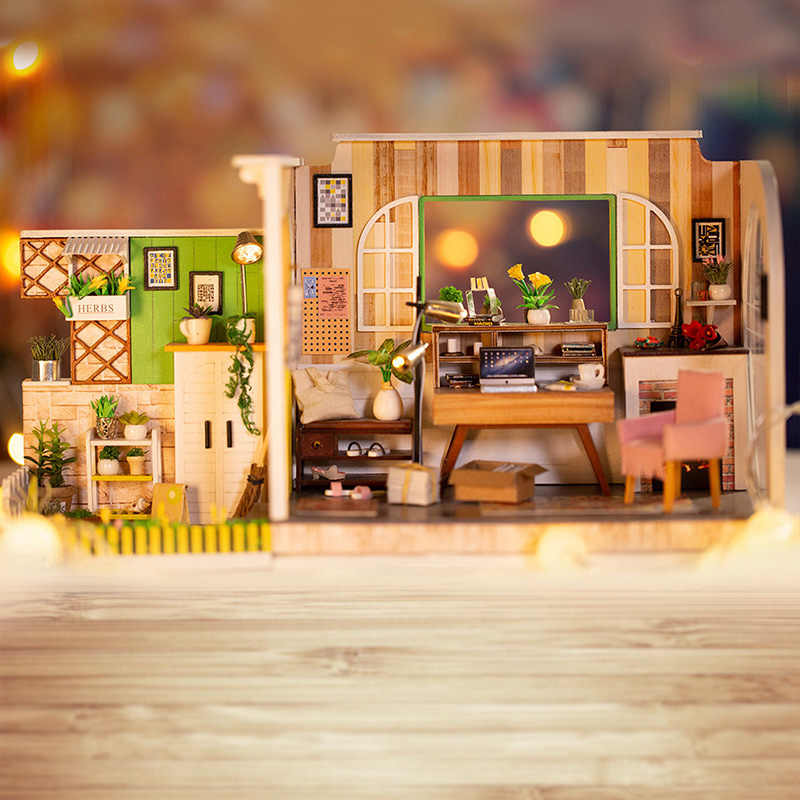 Doll House Gothenburg Studio DIY Miniature Dollhouse Accessories Education Handmade Toys For Children Mini Dolls House Furniture