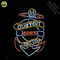 Neon Sign for Tattoo Custom Open neon bulb Sign Neon lights Sign glass Tube Iconic Custom Design Night Light work Shop Display