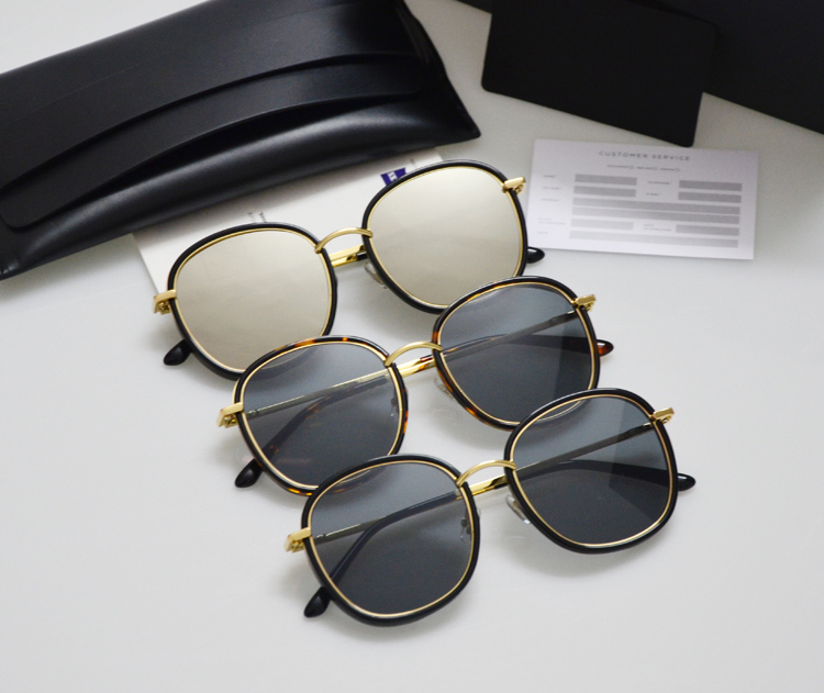 Leather packing Gentle Men Women Sunglasses Mad Crush Mirror Tortoiseshell Marble UV400 Driving Gafas Sunglasses Oculos