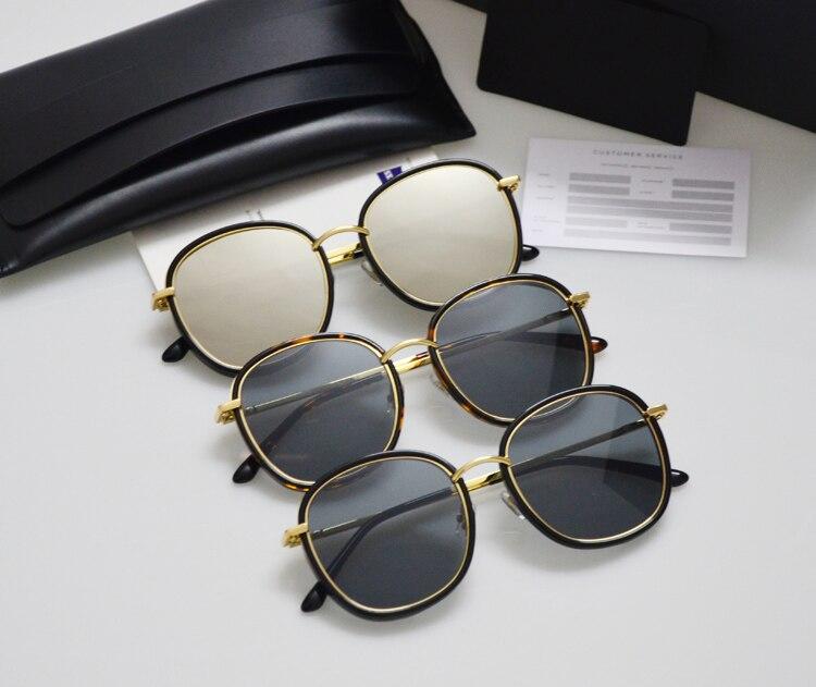 Leather packing Gentle Men Women Sunglasses Mad Crush Mirror Tortoiseshell Marble UV400 Driving Gafas Sunglasses Oculos De Sol
