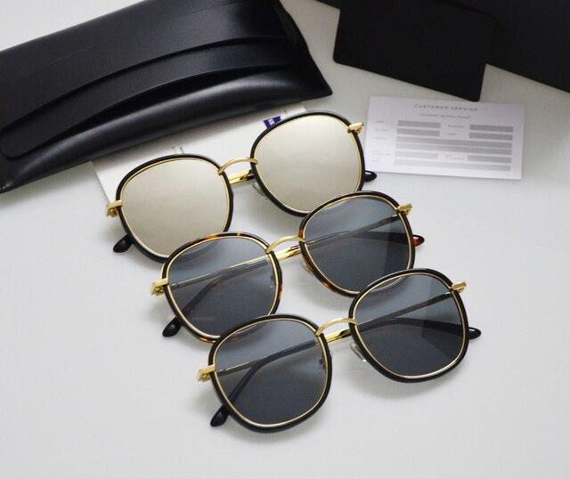 e2e7c3b50b9 Leather packing Gentle Men Women Sunglasses Mad Crush Mirror Tortoiseshell  Marble UV400 Driving Gafas Sunglasses Oculos