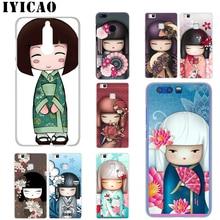 IYICAO kawaii Japanese Kokeshi Doll Huawei Mate 20 10 30 Lite Pro Y9 2019 Y7 Y6 Prime 2018 2017 Cover Phone Case abwe best sale 3 pcs flower print wood japanese folk craft kokeshi doll pink