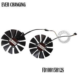 Free Shipping FD10015H12S 12V 0.55A 95mm VGA Fan For ASUS GTX780 GTX780TI R9 280 290 280X 290X 380 Graphics Card Cooling Fan(China)