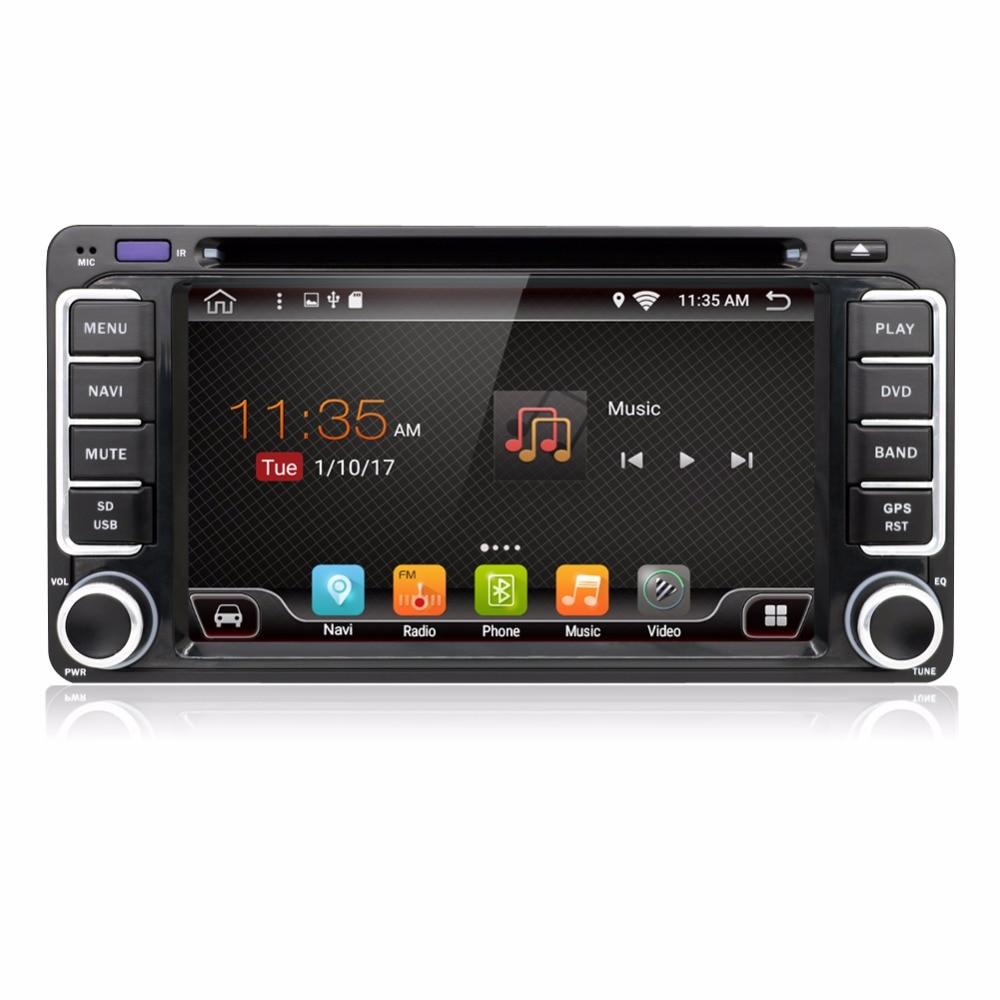 KLYDE Android 8.1 8 Core Car Radio For 6.2 2 Din TOYOTA RAV4 FJ CRUISER HIACE IELAS 1024*600 Car Multimedia Player