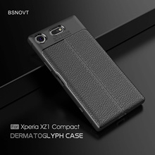 For Sony Xperia XZ1 Compact Case Soft Leather Style Anti-knock Case For Sony Xperia XZ1 Compact Cover For Sony XZ1 Compact Case аксессуар защитное стекло для sony xperia xz1 compact onext 41410