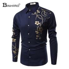 2018 Autumn Men shirt high quality Cotton printing men's shirt casual fashion Business Casual men with long sleeves shirt M-4XL