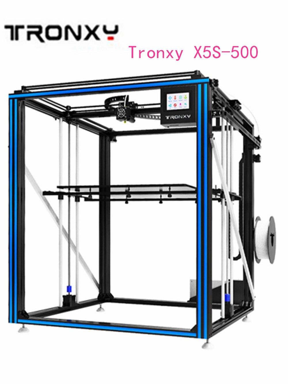 2019 Tronxy X5S 500 3D Imprimante 500x500x600 Chaleur Lit Grand Impression Taille bricolage kits Avec écran tactile filament détecteur