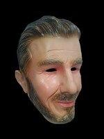 Lustige Halloween Kostüm Latex Fußball Star David Maske