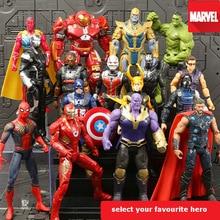 все цены на Avengers Infinity War Action Figures Toys Iron man Spider man Captain America Hulk Thor Thanos Loki Toys for Children#E онлайн