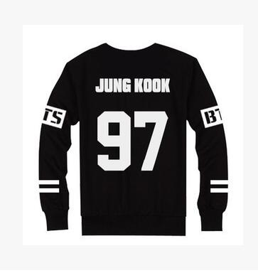 Kpop BTS Bangtan children Jungkook J Hope Jin Jimin V Suga T Suit Women slim EXO Sweatshirts COLOR BALCK bts Hoodies
