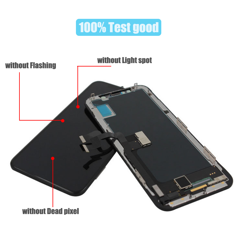 BFOLLOW LCD for iPhone X AAA COPY Screen Display Assembly Digitizer Replacement Tempered Glass 10 iPhoneX Frame Sticker