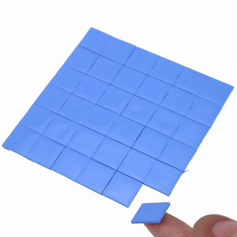 36pcs Gdstime 15x15mm 2mm Thickness Thermal Pad Mini GPU CPU Heatsink Cooling Conductive Silicone Pads 15x15x2mm High Quality synthetic graphite cooling film paste 300mm 300mm 0 025mm high thermal conductivity heat sink flat cpu phone led memory router