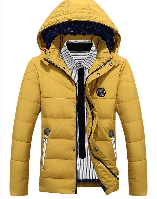 Sofibery Coats & Jackets Men Down & Parkas Winter Fashion Men's Plus Velvet Cotton Jackets & Coats Men's Detachable Hooded Coat,