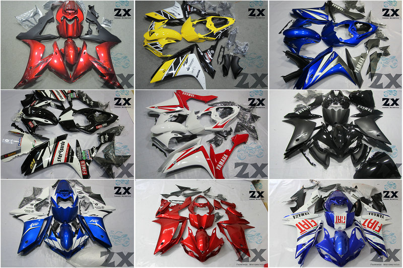 Motorcycle Fairings For yamaha r1 20072008 YZF-R1 07 08 YZFR1 YZF R1 Fortuna Body part fairing (Injection molding)2007-2008 palm leaf print elastic waist skirt