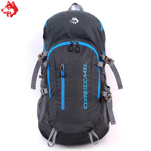 45L Black High Capacity Portable Hiking equipment bag For Outdoor Activities Sports China camping hiking backpack