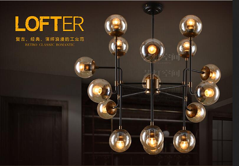 A1 American industrial wind retro Beanstalk dining room chandelier minimalist Scandinavian iron glass ball with creative lightin ароматизатор aroma wind 002 a