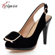 Plus größe 31-43 fahsion frau pumpt Reizvolle dünne Hohe Absätze Plattform Schuhe frauen Kleid hochzeit schuhe dame Pumpen