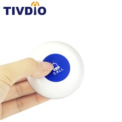Tivdio Wireless Restaurant Calling System Transmitter Call Button 433MHz BLue Pager Waiter Equipment Paging System F3256L