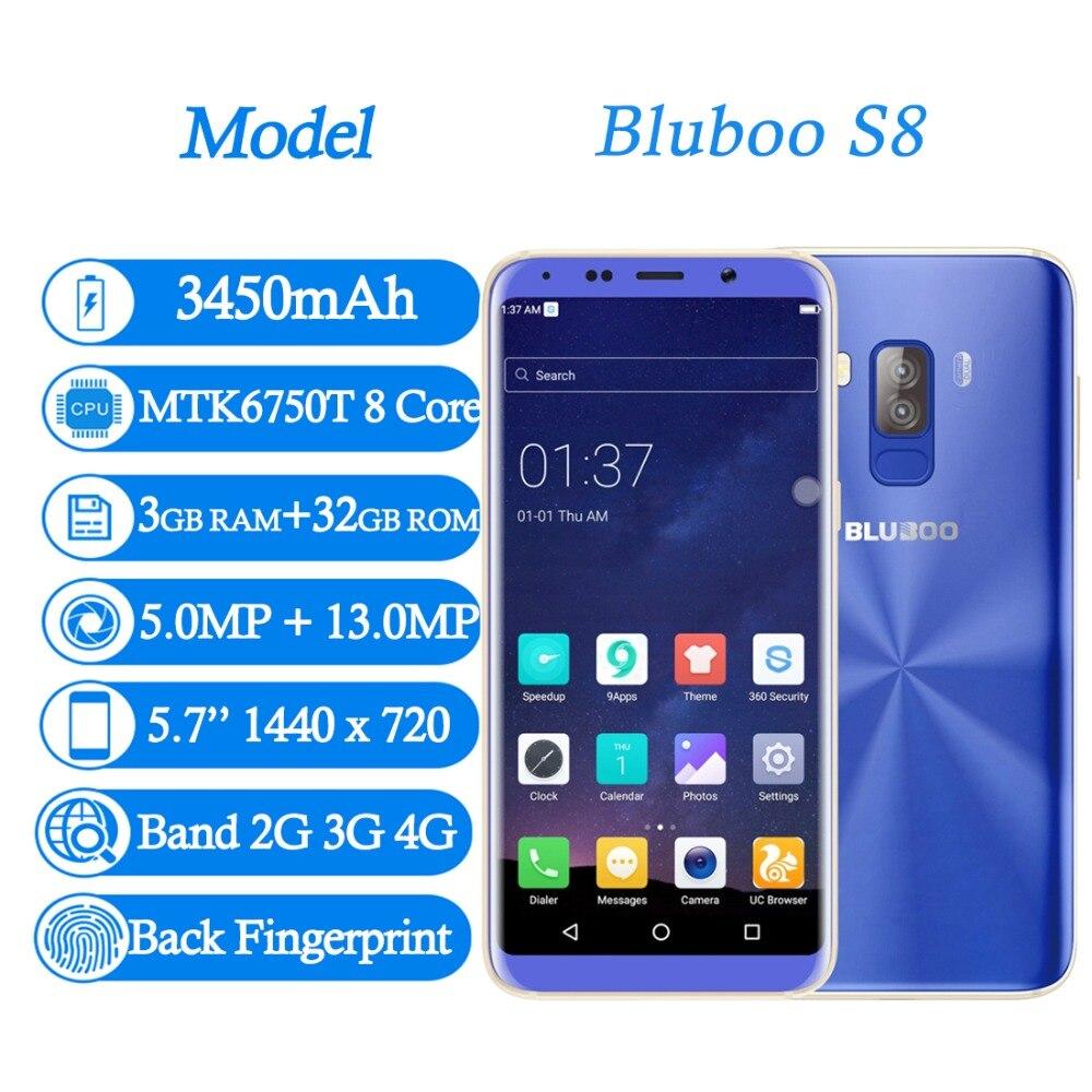 BLUBOO S8 5,7 \'\'18:9 teléfono móvil MT6750T Octa Core 3 GB + 32 GB ...