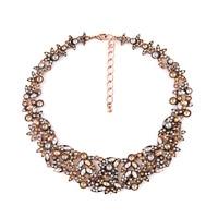 Merk Designer Nieuwe York Crystal Cluster Verklaring Ketting Vintage Gold Kraag Gift Sieraden