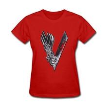 Vikings Women Cotton T Shirt Ragnar Lothbrok