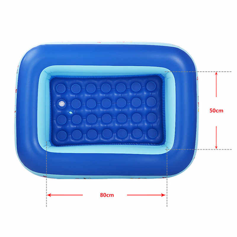 72L Inflatable Children\'s Swimming Pool PVC Bicyclo Independently Valve  Kids Swimming Pool Playing Fishing Swimming Pool for Kid