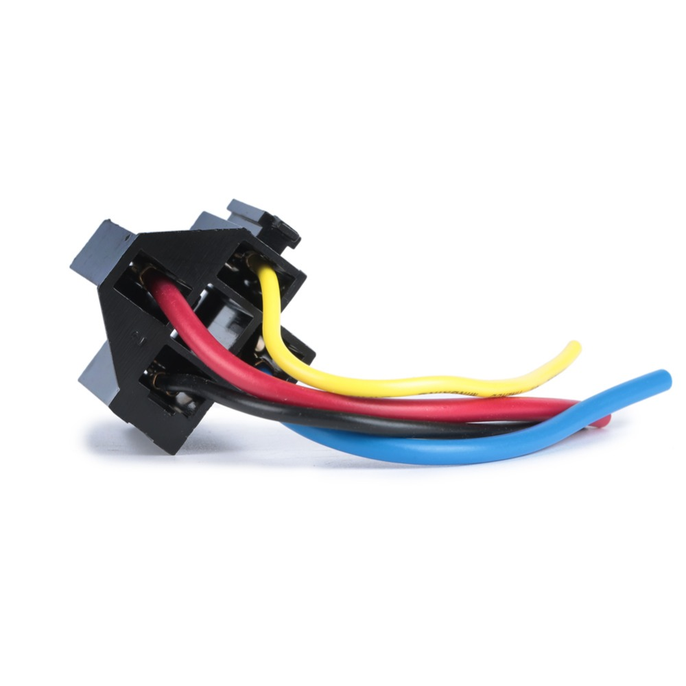 Us 878 22 Off 5 Pcs Car Relay Socket 12v 30a 40a 4 Prong Wire Harness Pin Kit For Electric Fan Fuel Pump Light Universal Diy In Switches Relays