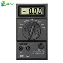 Práctico Capacitor Meter Cables de Prueba Multímetro Digital CM7115A con Manual de Usuario