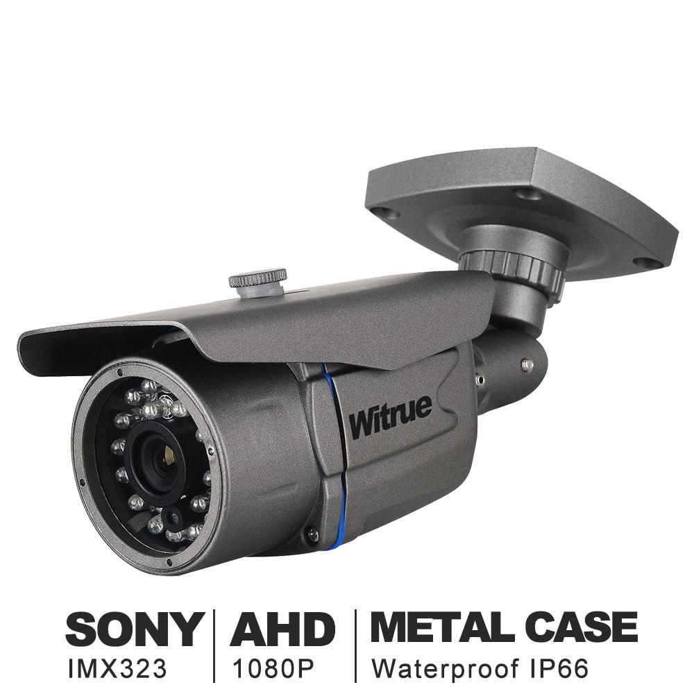 Witrue Mini Câmera De Vigilância Sony AHD IMX323 Camera1080P 20 m Night Vision Camera CCTV IR Ao Ar Livre Câmera de Segurança À Prova D' Água